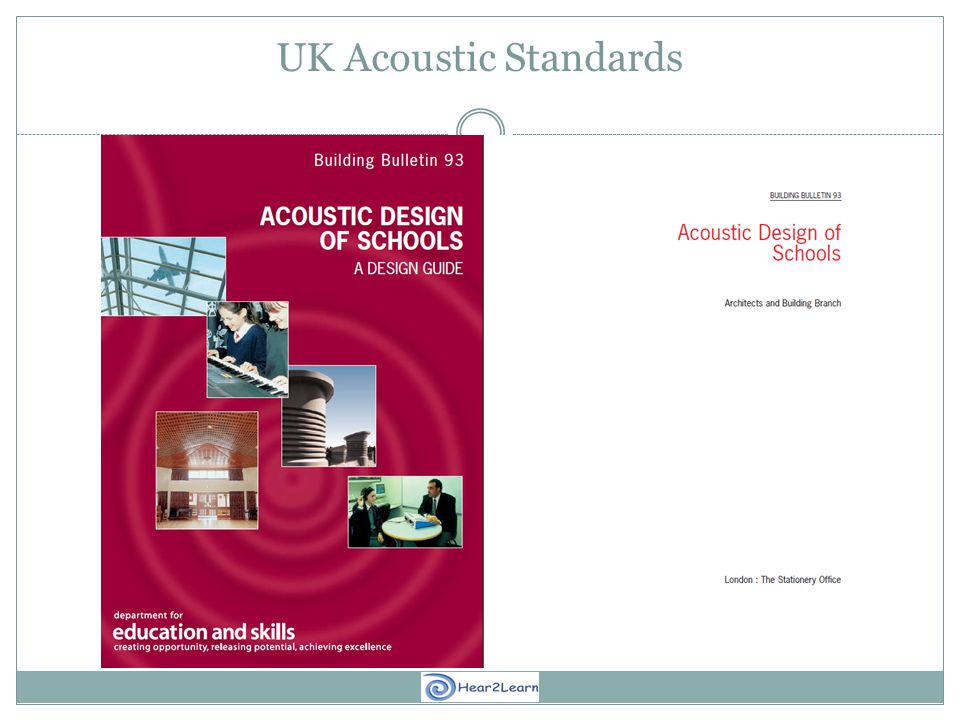 UK Acoustic Standards