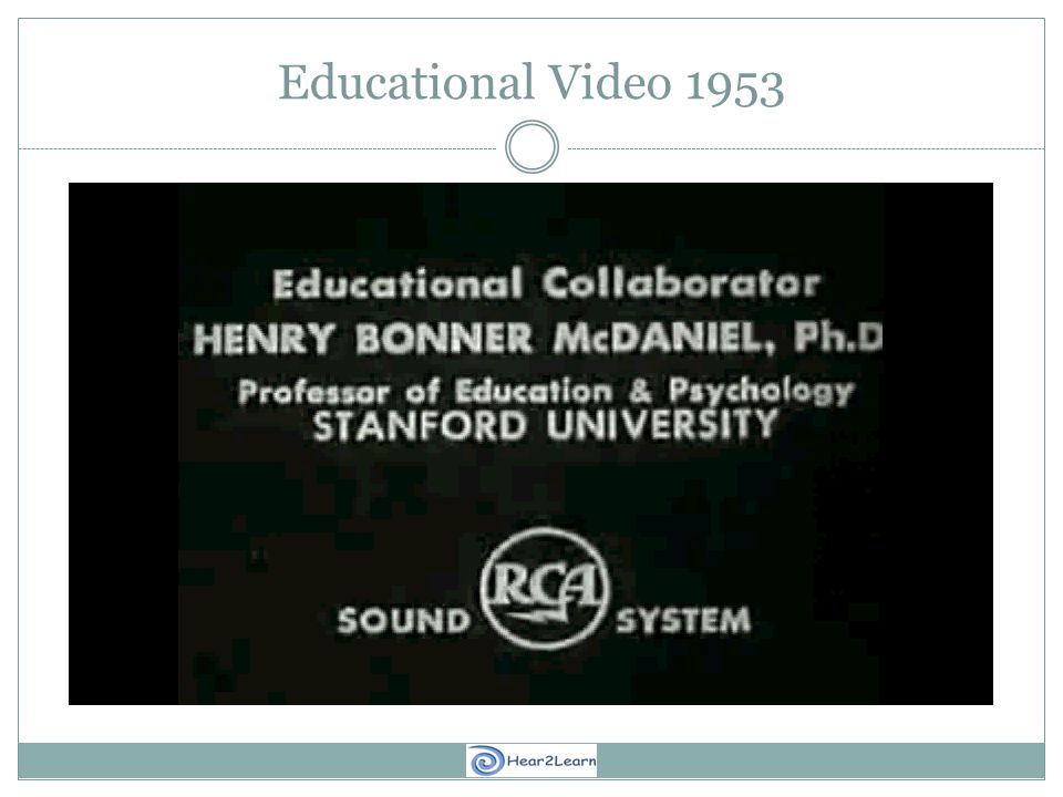 Educational Video 1953