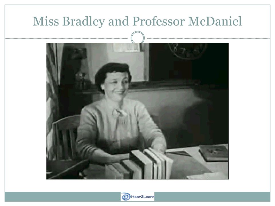 Miss Bradley and Professor McDaniel