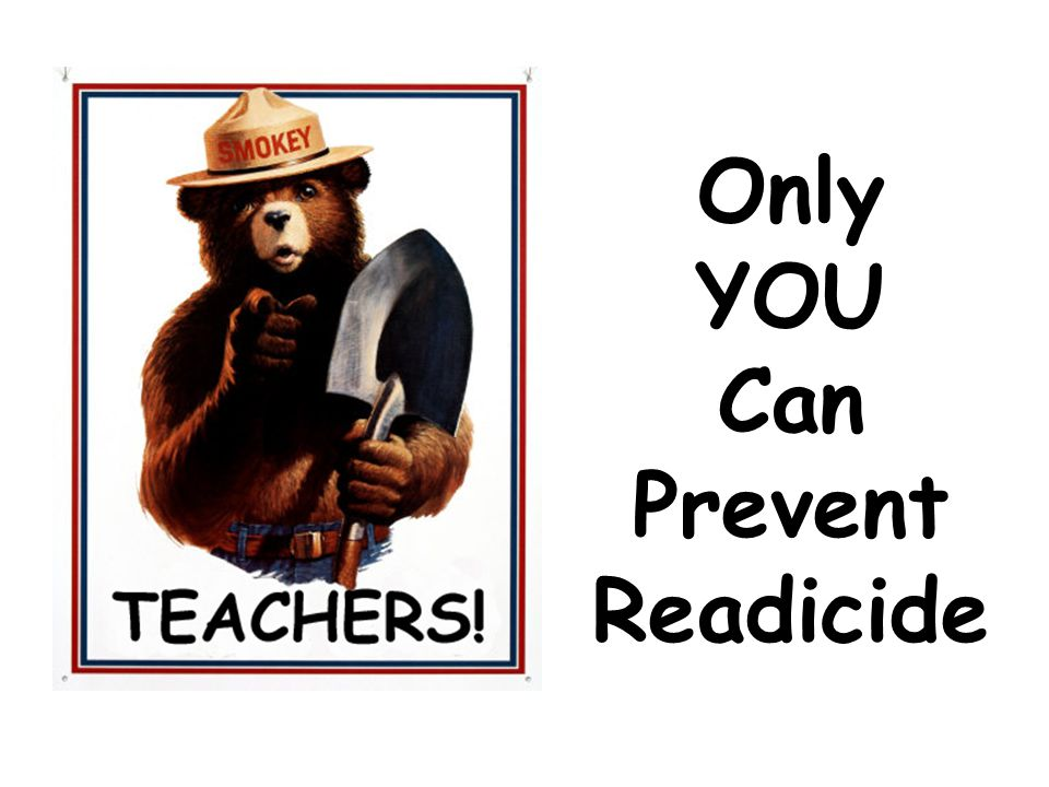 Only YOU Can Prevent Readicide