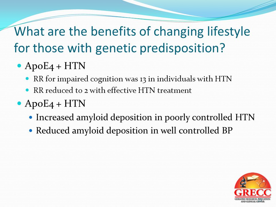 What are the benefits of changing lifestyle for those with genetic predisposition.