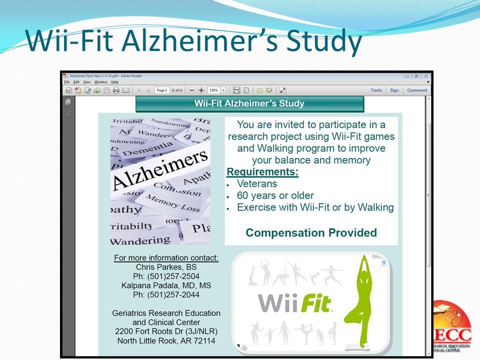 Wii-Fit Alzheimer's Study 56