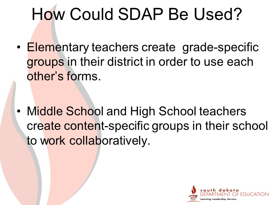 How Could SDAP Be Used.