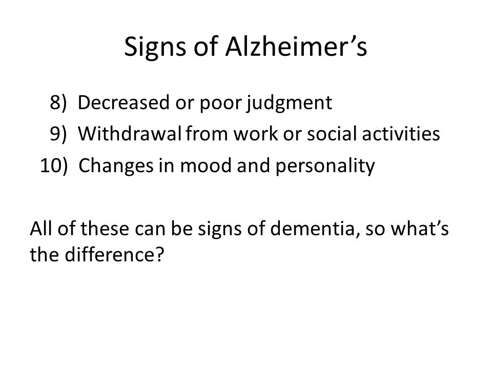 Types of Dementia Alzheimer's disease 60 - 80 % Lewy Body dementia 10 – 15 % Vascular dementia 5 - 10 % Parkinson's dementia 5 - 8 % Frontotemporal dementia 2 – 5 % Other < 2 % (alcohol, Pick's disease, MS, etc.)