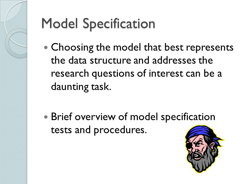 Choosing the model that best represents the data structure and addresses the research questions of interest can be a daunting task. Brief overview of