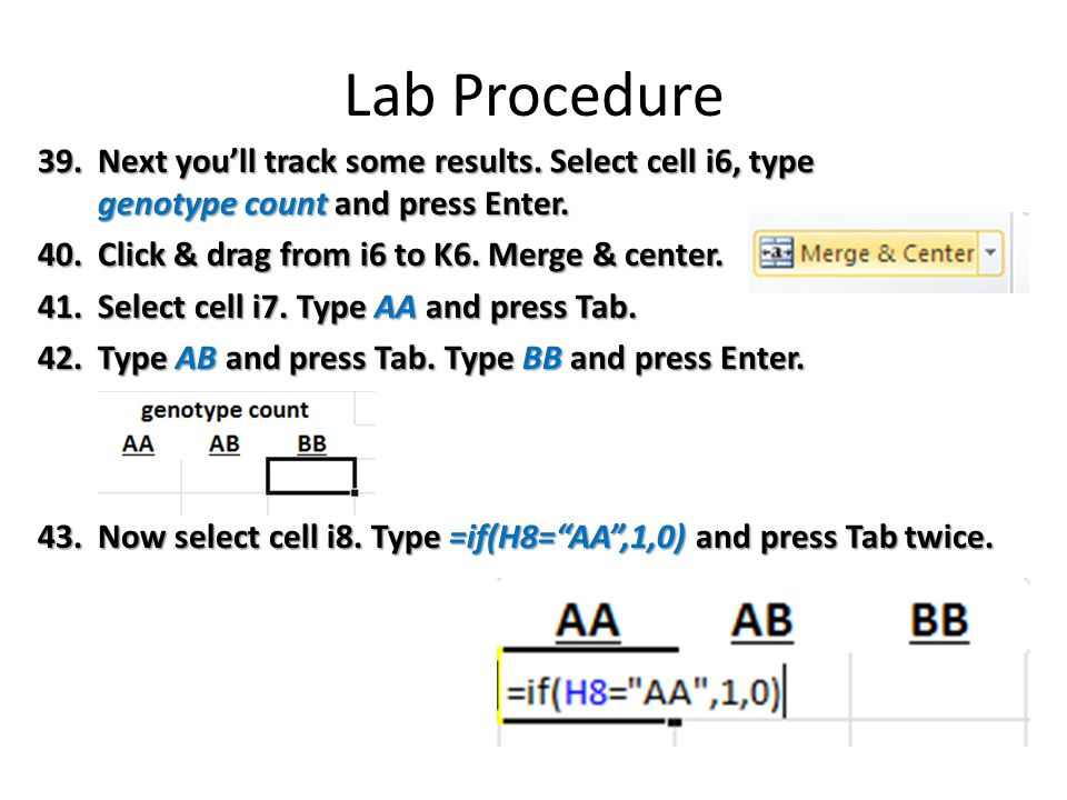 Lab Procedure 39.Next you'll track some results.