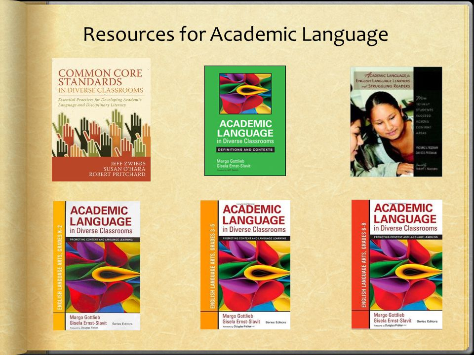 Resources for Academic Language