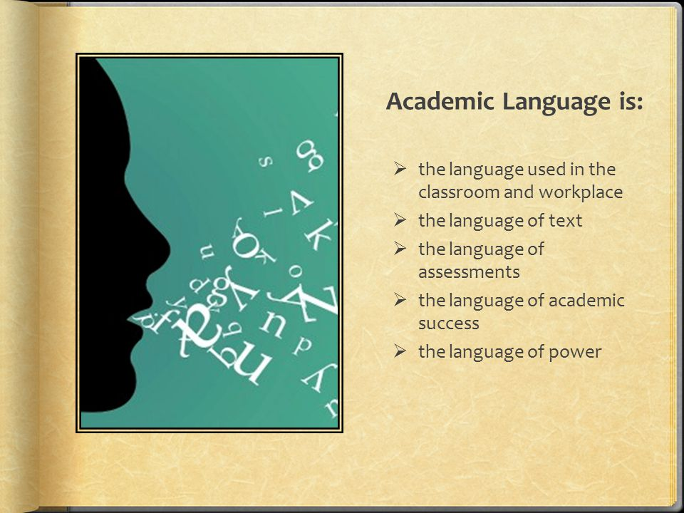 Where is Academic Language supported in the Standards?