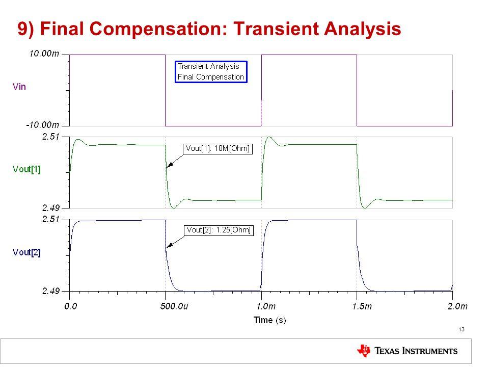 9) Final Compensation: Transient Analysis 13