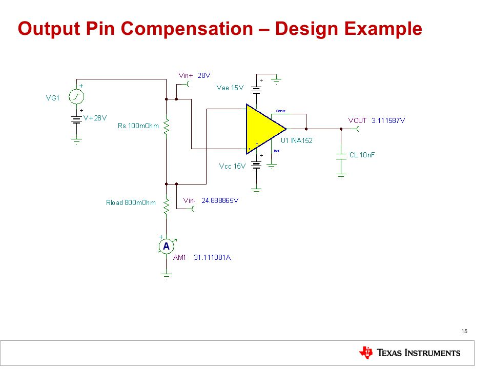 Output Pin Compensation – Design Example 15