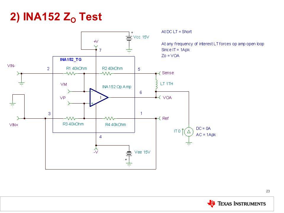 2) INA152 Z O Test 23