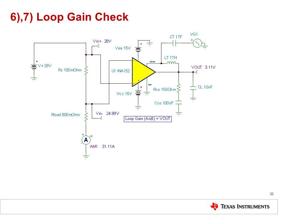 6),7) Loop Gain Check 32
