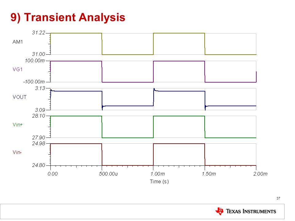 9) Transient Analysis 37