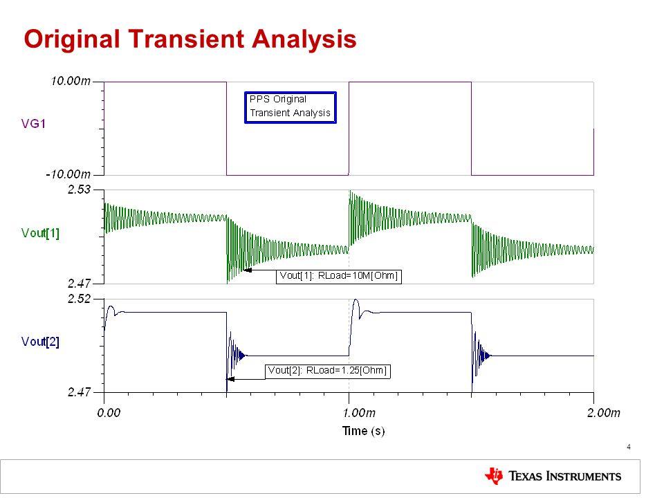 Original Transient Analysis 4