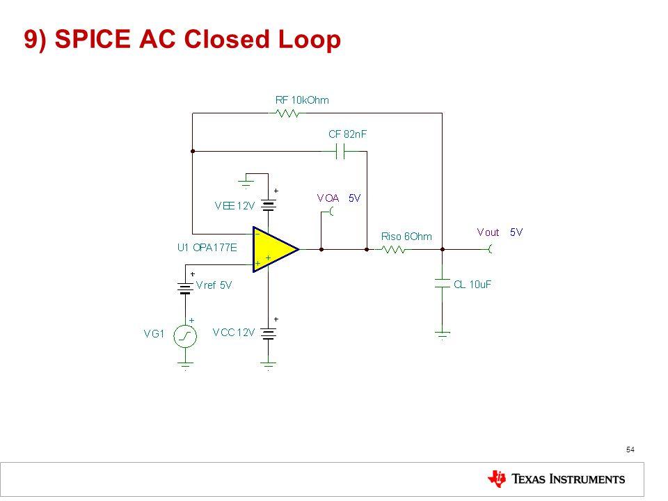 9) SPICE AC Closed Loop 54