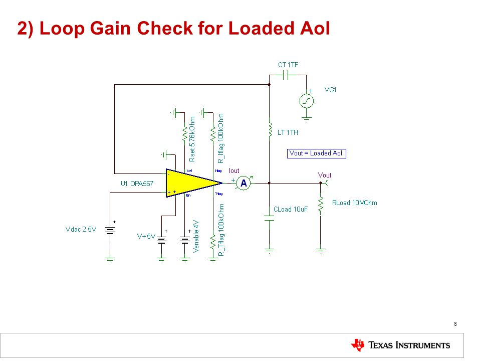 Aol Test Circuit for Difference Amp 17