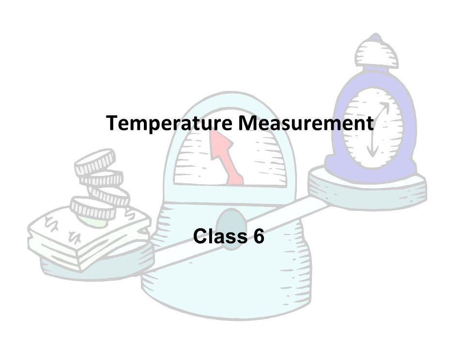 Class 6 Temperature Measurement