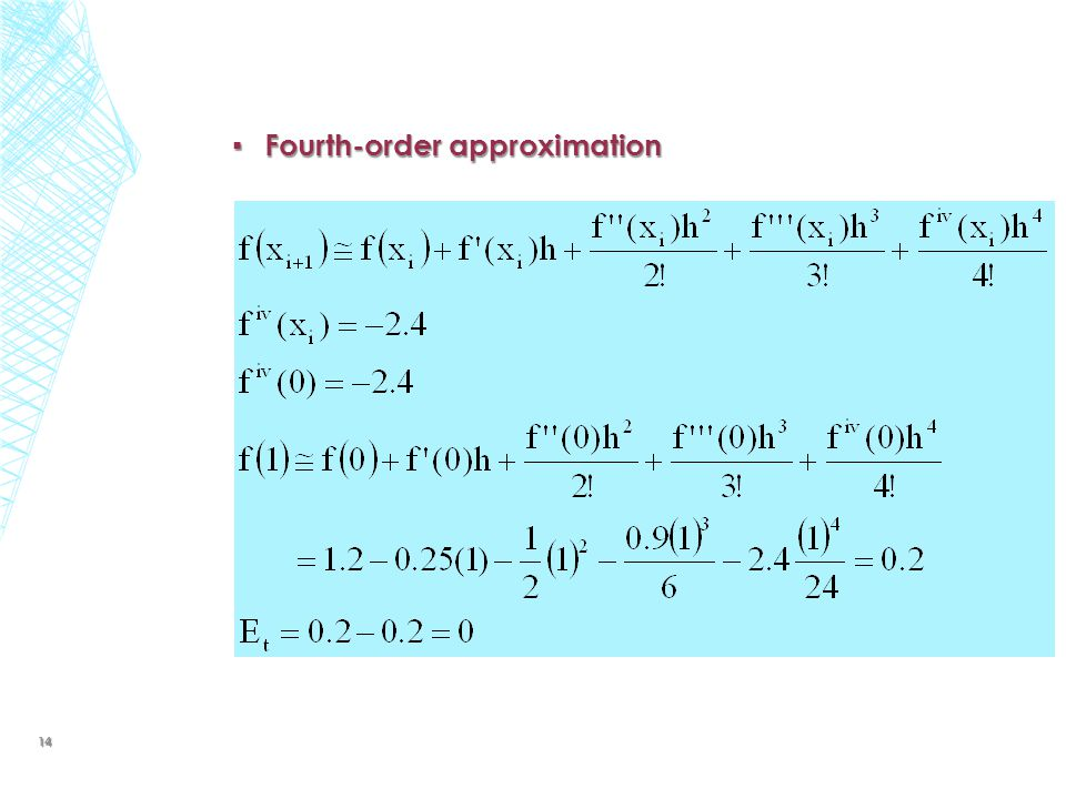 ▪ Fourth-order approximation 14