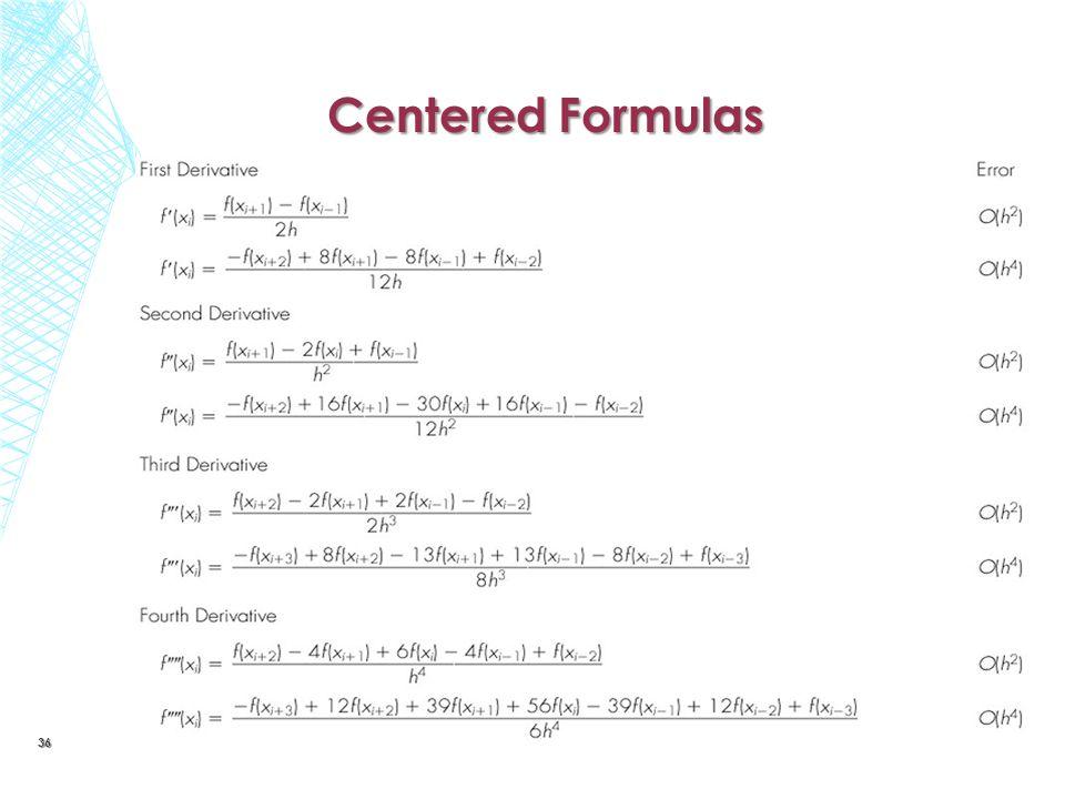 Centered Formulas 36
