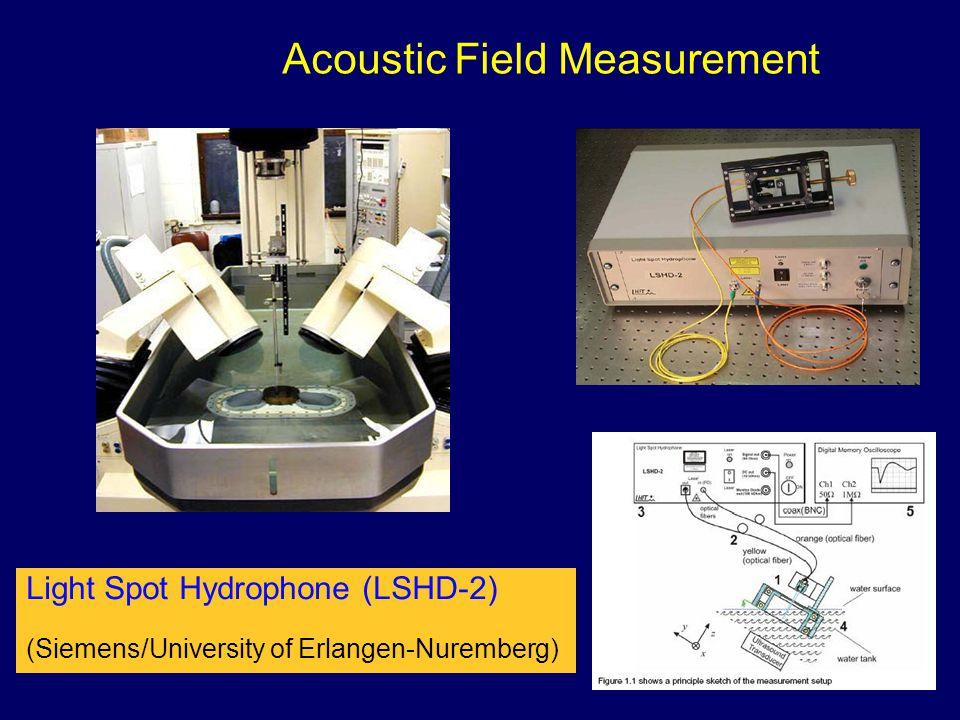 Acoustic Field Measurement Light Spot Hydrophone (LSHD-2) (Siemens/University of Erlangen-Nuremberg)