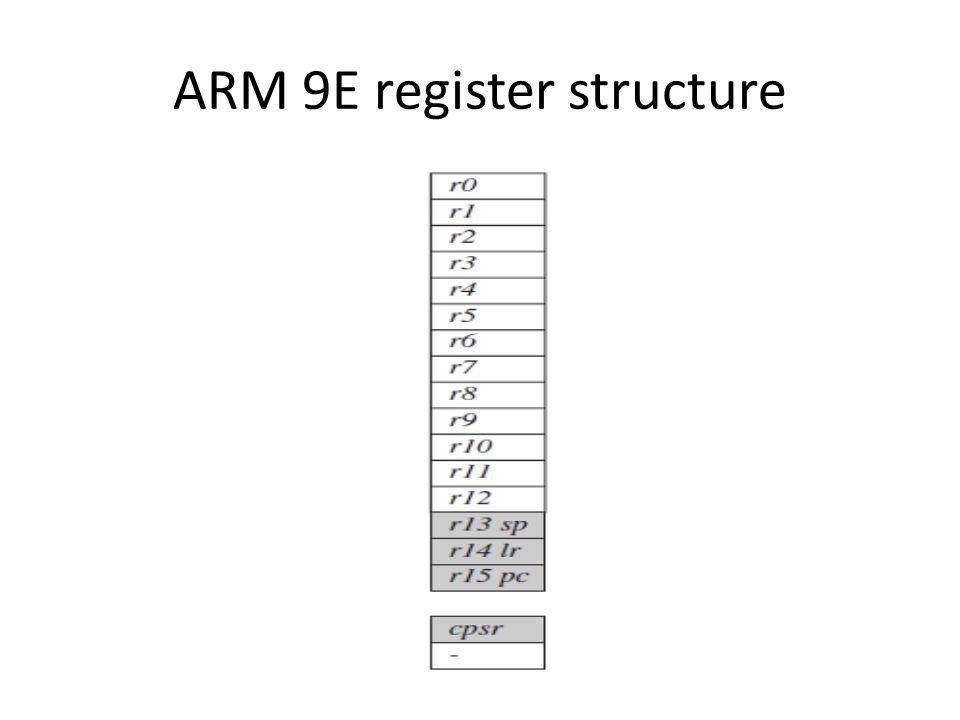 ARM 9E register structure