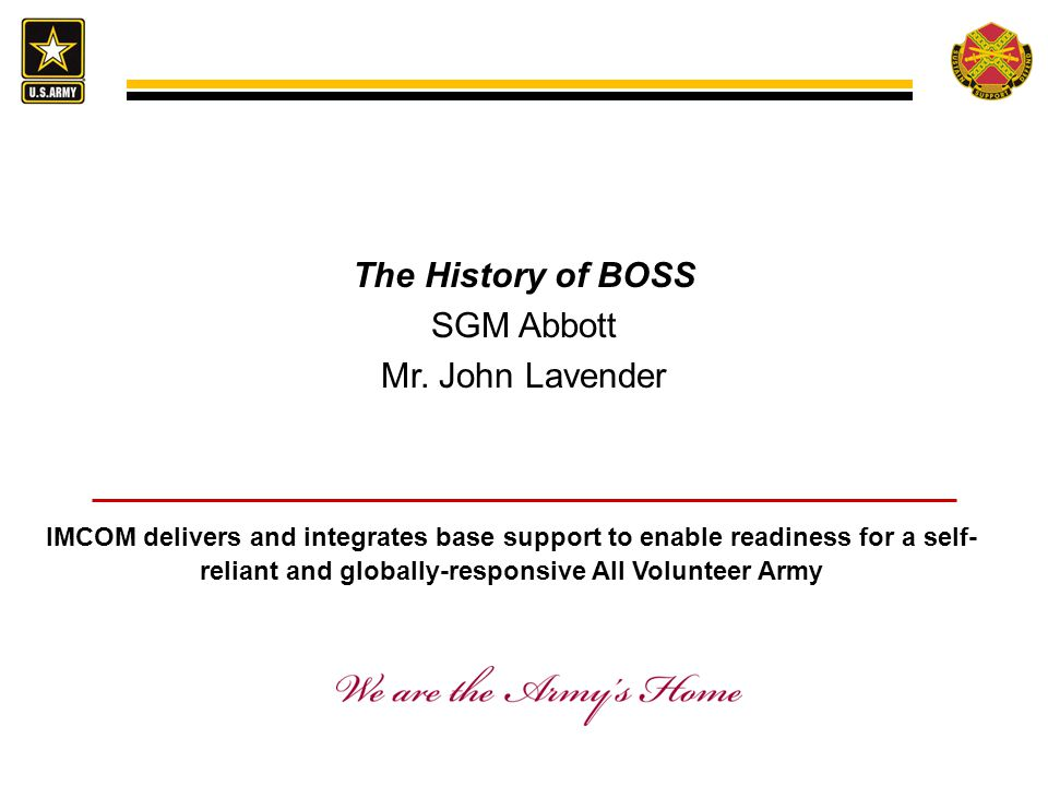 The History of BOSS SGM Abbott Mr.