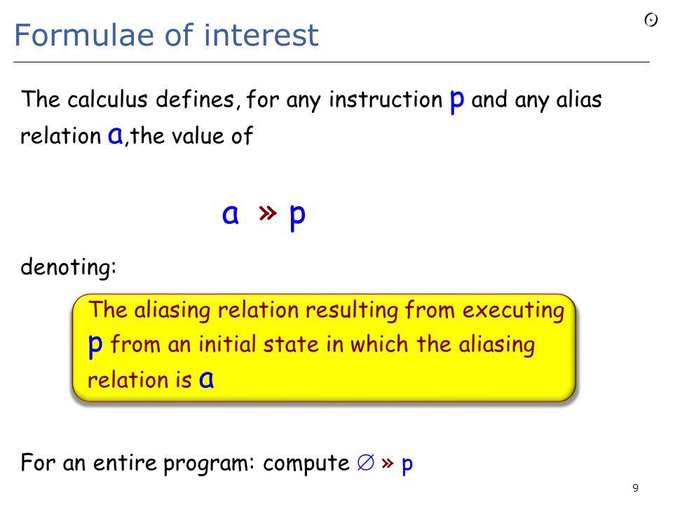 The programming language  skip  create x  x := y  forget x  (p ; q)  then p else q end 10 Eiffel: x := Void Java etc.: x = null; p, q, …: instructions x, y, …: variables cut x, y  p n -- for integer n  loop p end  r do p end  call r  z := x y  x r …  Current E0: basic constructs E1: cut E4: O-O E2: loops E3: procedures