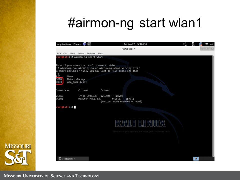 #airmon-ng start wlan1