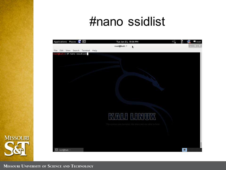 #nano ssidlist