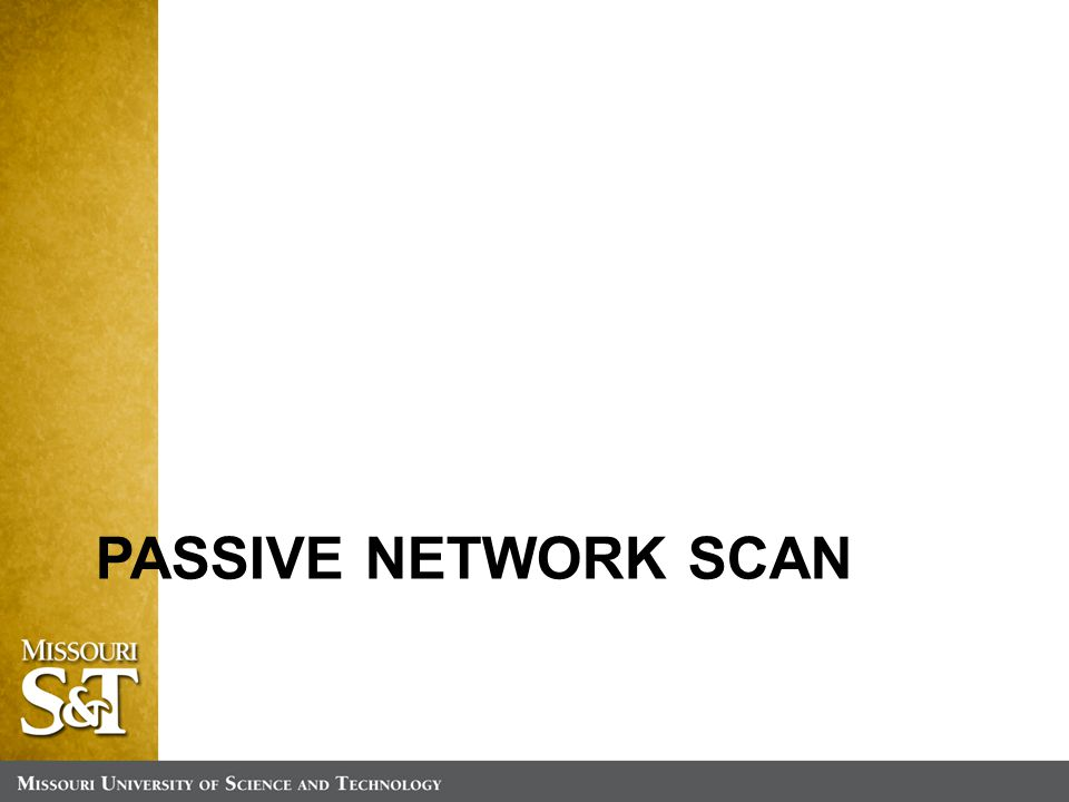 PASSIVE NETWORK SCAN