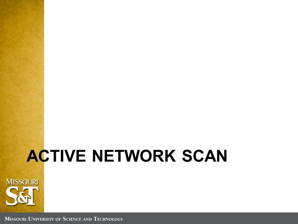 ACTIVE NETWORK SCAN