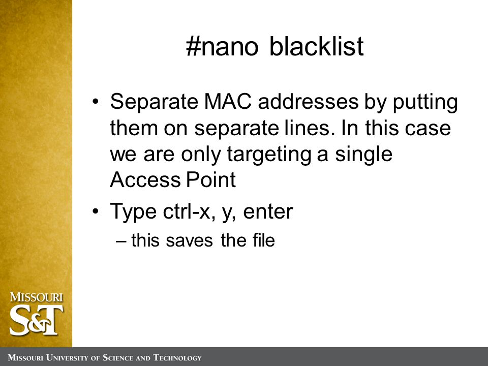 Separate MAC addresses by putting them on separate lines.