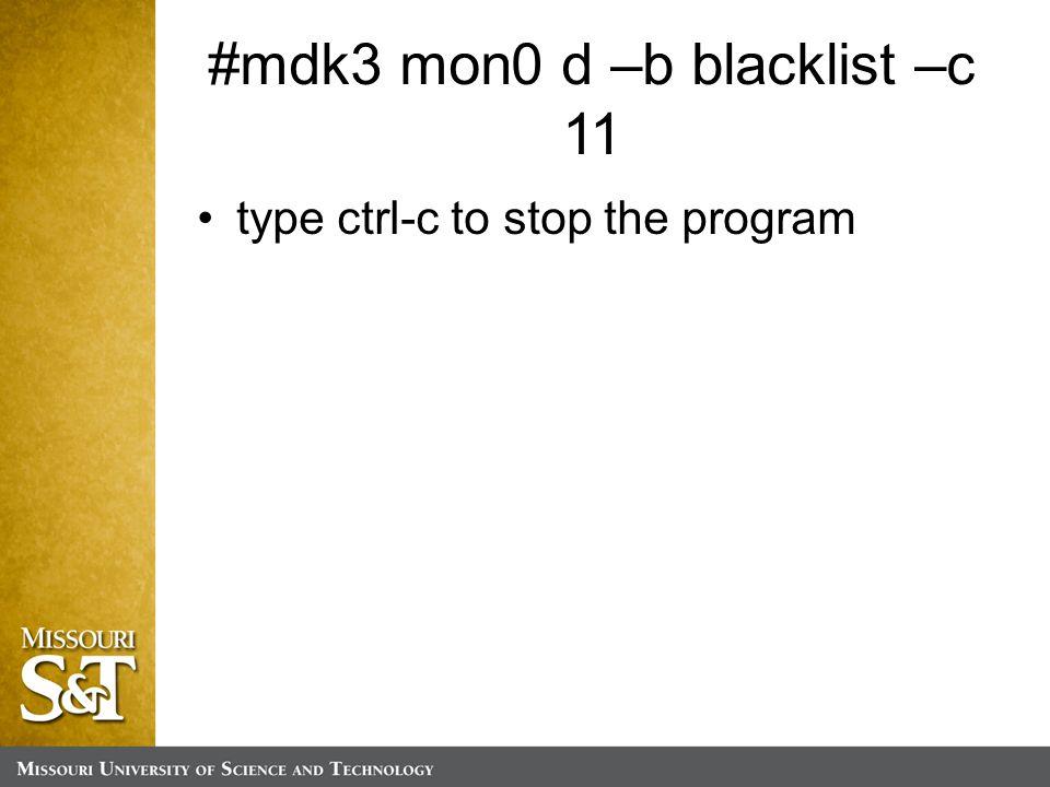 type ctrl-c to stop the program