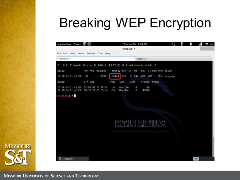 Breaking WEP Encryption