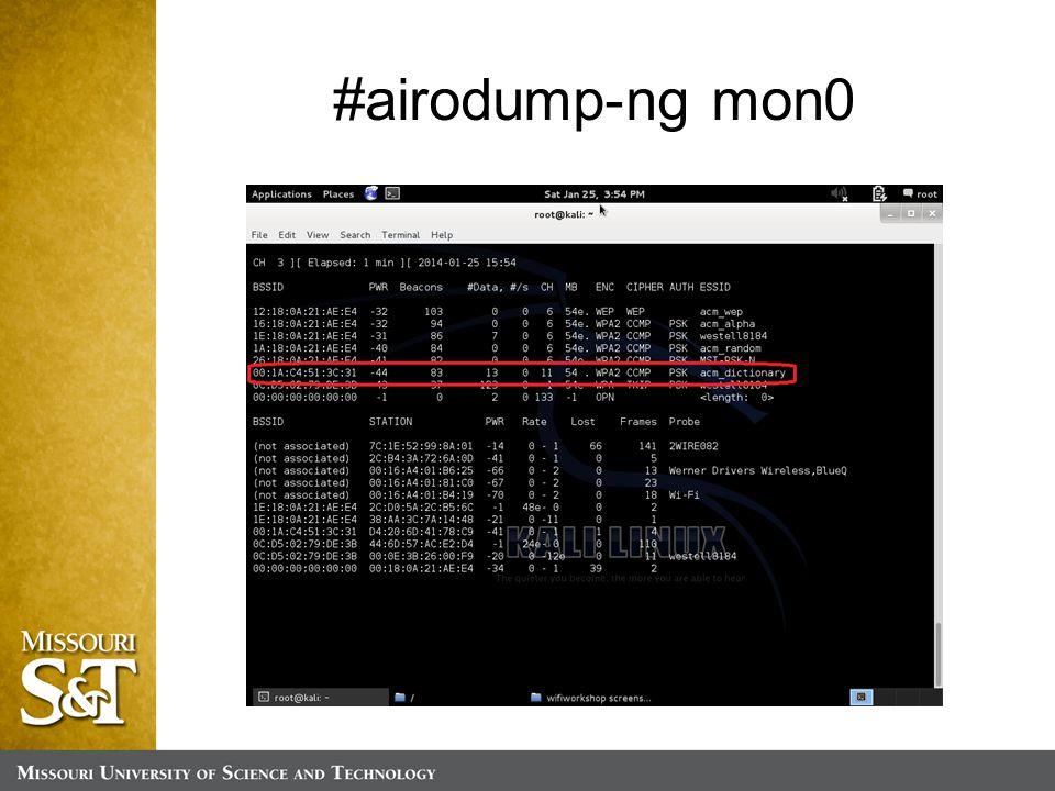 #airodump-ng mon0
