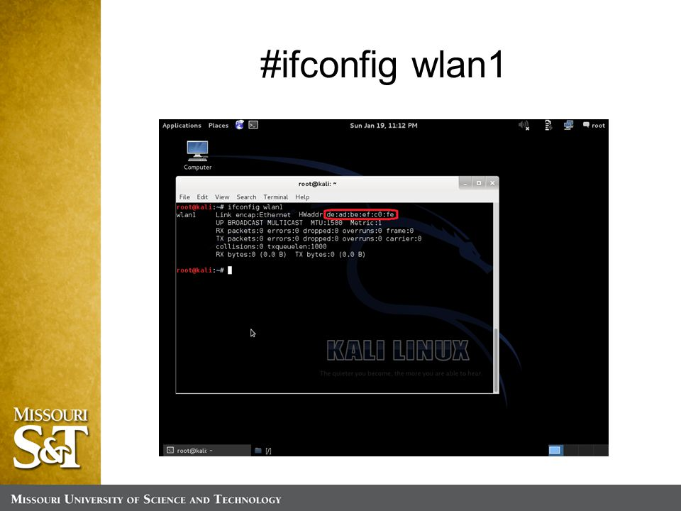 #ifconfig wlan1