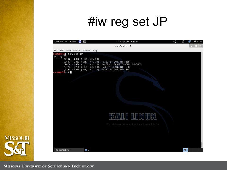 #iw reg set JP