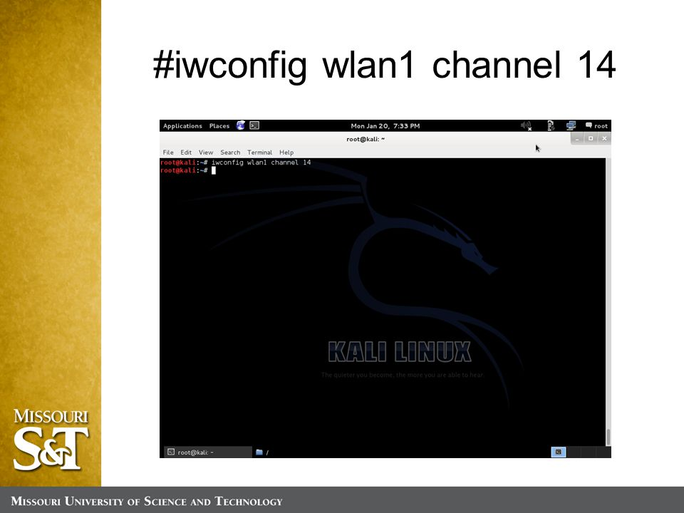 #iwconfig wlan1 channel 14
