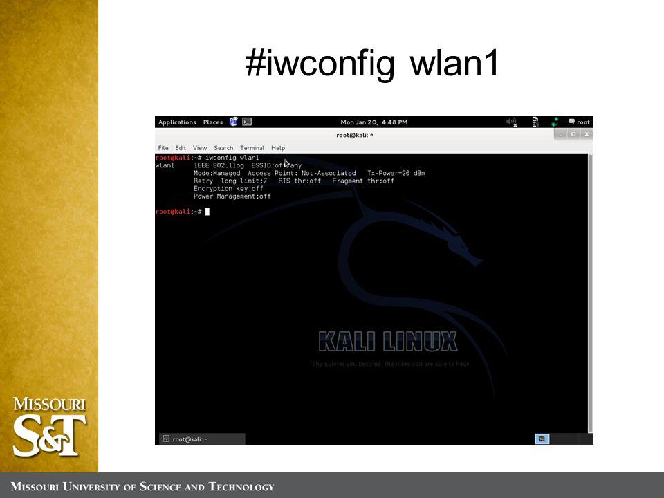 #iwconfig wlan1