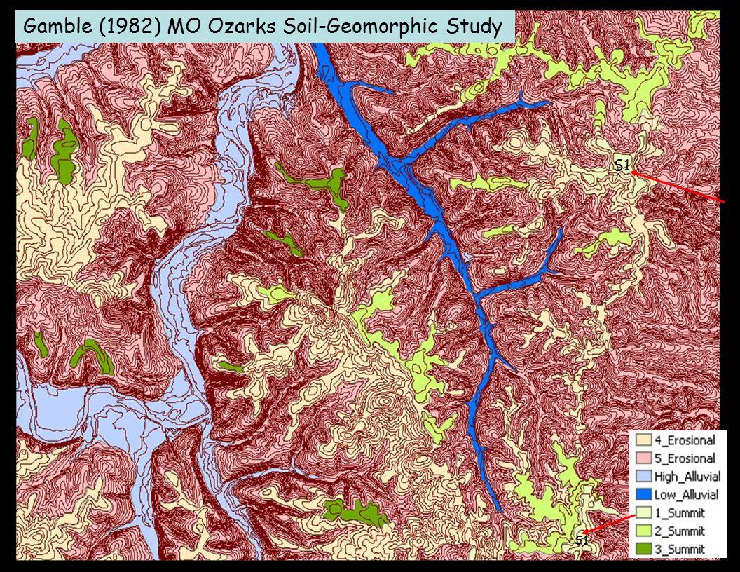 Gamble (1982) MO Ozarks Soil-Geomorphic Study S1