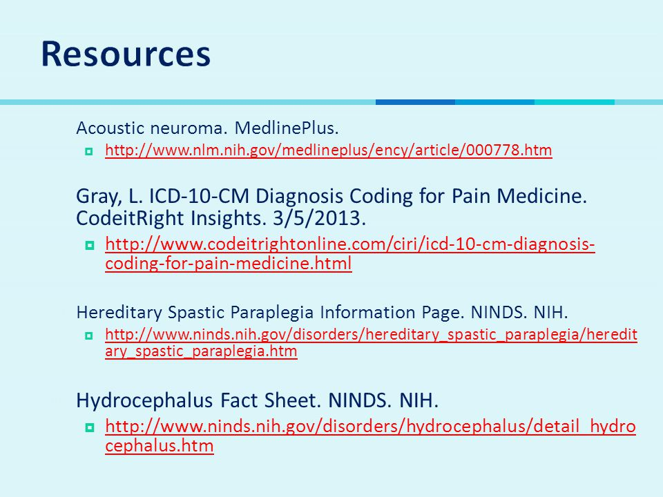  Acoustic neuroma.MedlinePlus.