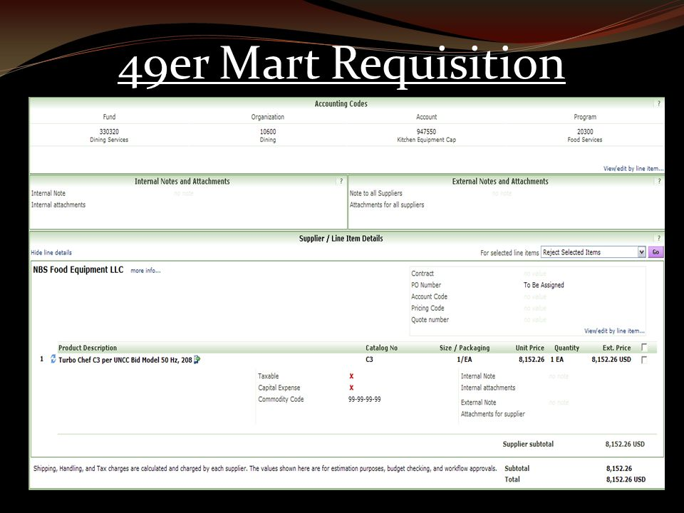 49er Mart Requisition