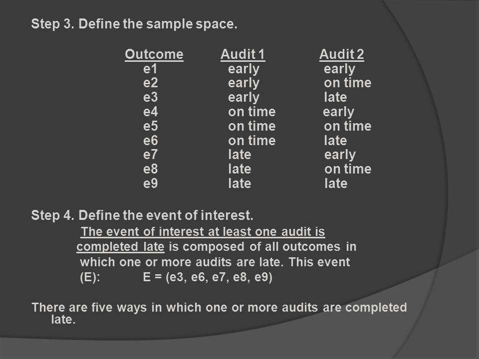 Step 3. Define the sample space.
