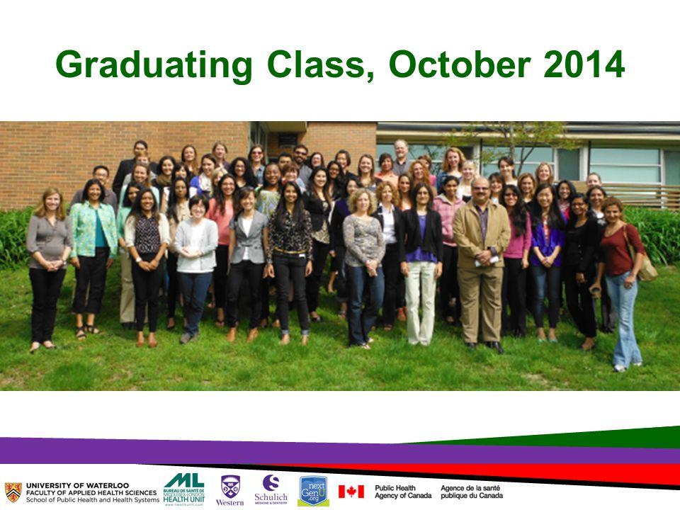 TOPHC – April, 1, 2014 Graduating Class, October 2014