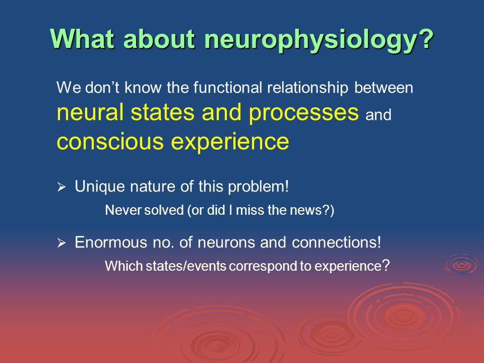 What about neurophysiology.