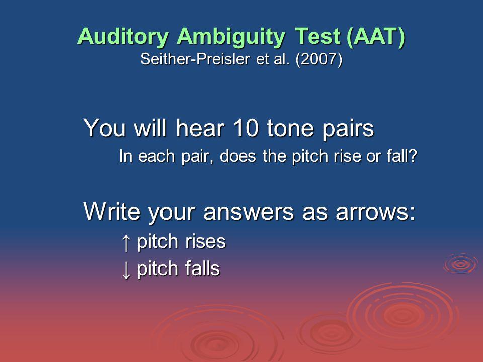 Auditory Ambiguity Test (AAT) Seither-Preisler et al.