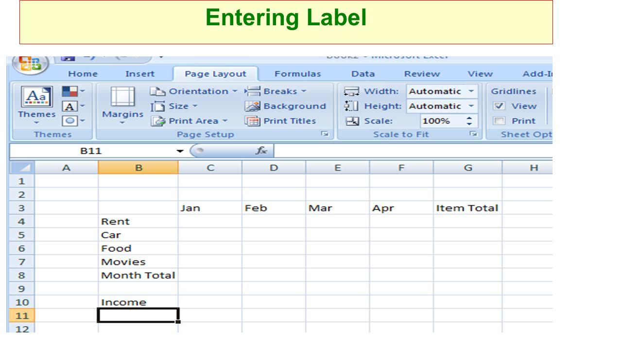 Entering Label