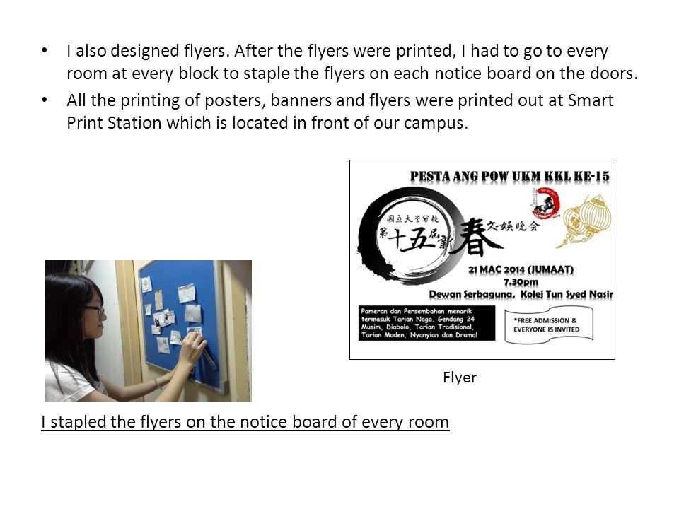 I also designed flyers.