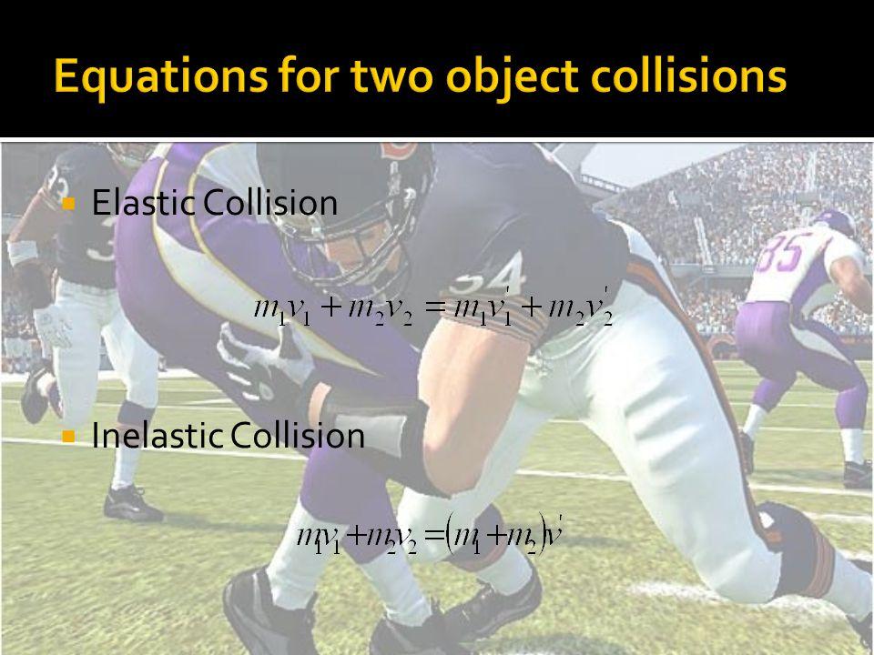  Elastic Collision  Inelastic Collision