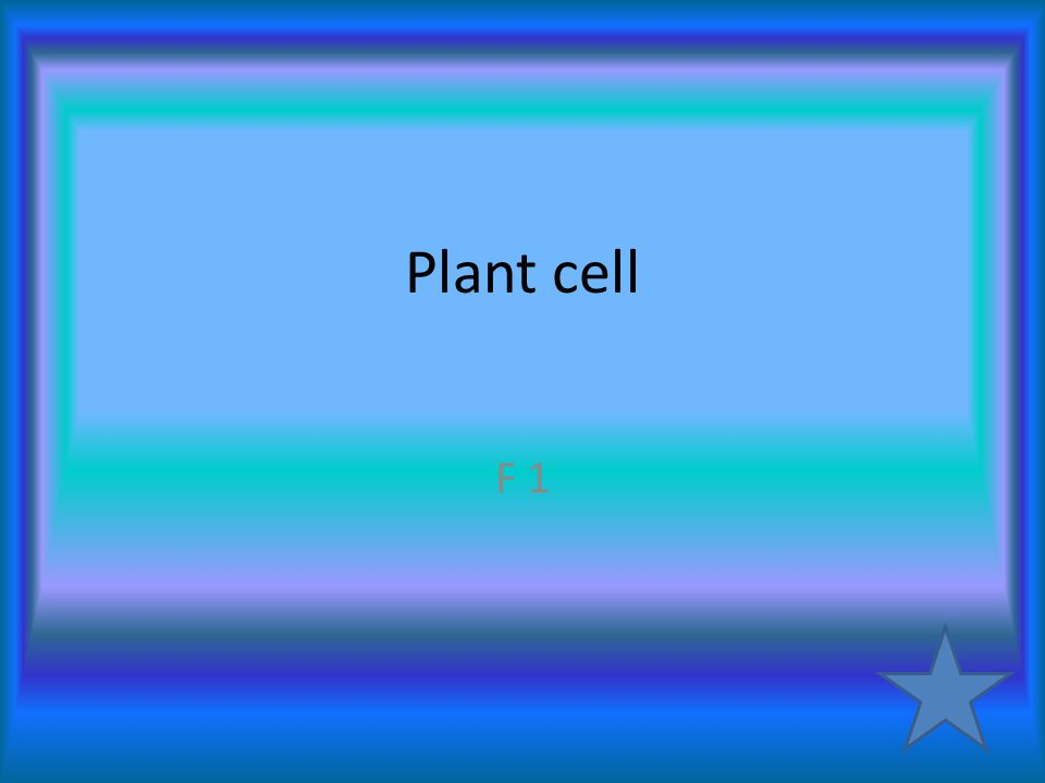 Plant cell F 1